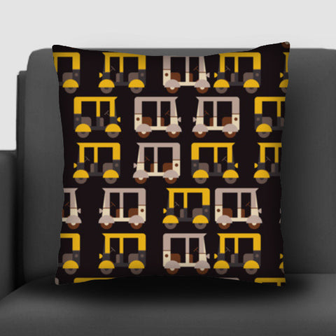 Auto rickshaw seamless illustration Cushion Covers | Artist : Designerchennai