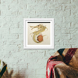 dragon with turtle Premium Square Italian Wooden Frames | Artist : federico cortese