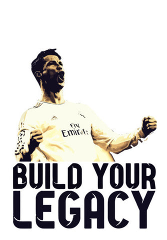 Cristiano Ronaldo - Build your Legacy Wall Art | Artist : Syamantak Dubey