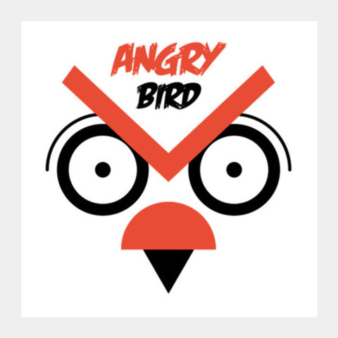 Big Eye Angry Bird Square Art Prints PosterGully Specials