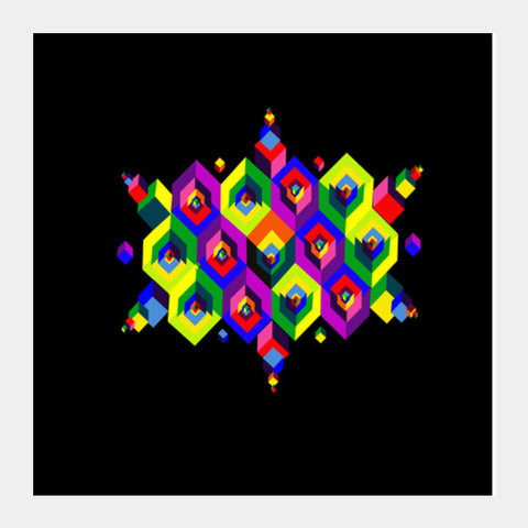 Cube Dimension Square Art Prints | Artist : D.B.A.khil