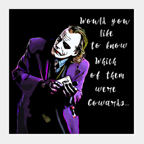 Square Art Prints, Joker  Square Art Prints | Artist : Delusion, - PosterGully