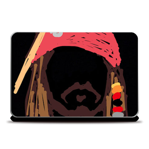 Jack Sparrow Pirates Of The Caribbean Minimal Doodle Laptop Skins | Artist : Praband