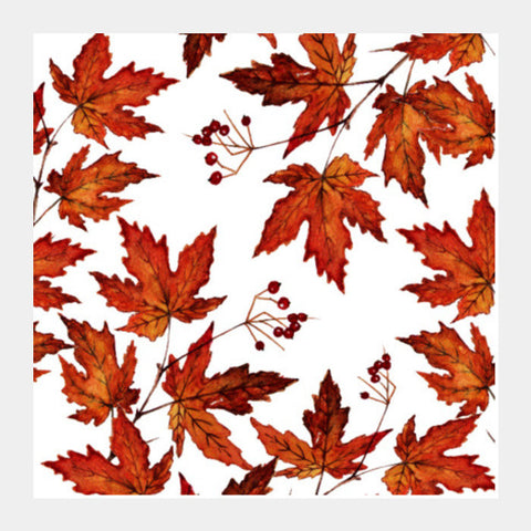 Autumn Fall Leaves Pattern Nature Season Square Art Prints PosterGully Specials