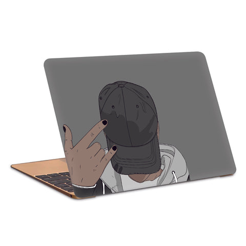 Cool Guy Wearing A Cap Artwork Laptop Skin