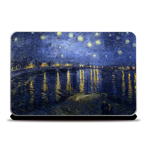 Starry Night over the Rhone by Vicent Van Gogh Laptop Skins | Artist : GABAMBO