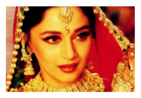 Bollywood Madhuri Devdaas Portrait Wall Art  | Artist : Rameshwar Chawla