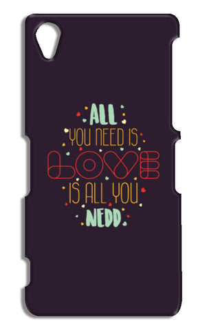 All you need is love is all you need Sony Xperia Z2 Cases | Artist : Designerchennai