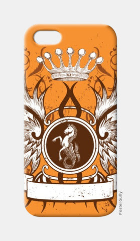 iPhone 5 Cases, horse with wing,Crown and Floral iPhone 5 Cases | Artist : Anshuraj Tyagi, - PosterGully