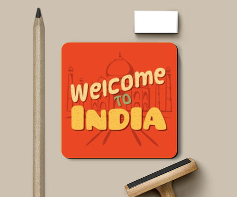 Coasters, Welcome to India retro Coaster | Artist : Abhishek Kanungo, - PosterGully