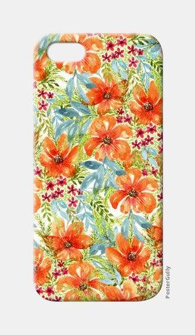 Bright Painted Summer Watercolor Floral Pattern iPhone 5 Cases | Artist : Seema Hooda