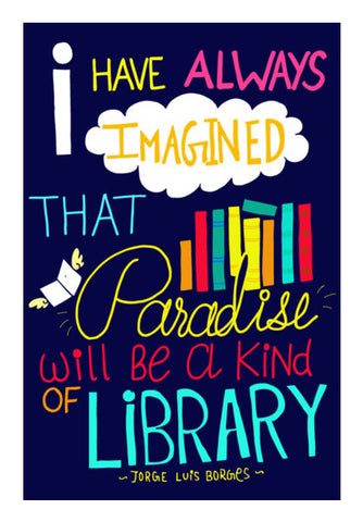 Paradise of Books Wall Art | Artist : Shweta Paryani