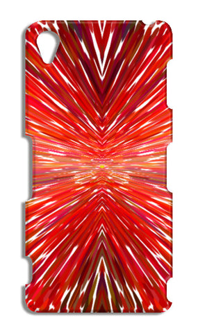 Abstract Red Burst Modern Design Sony Xperia Z3 Cases | Artist : Seema Hooda