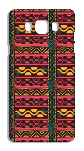 Abstract geometric pattern african style Samsung Galaxy J7 2016 Cases | Artist : Designerchennai