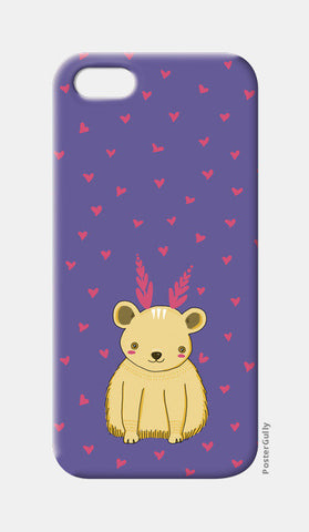 Cute Bear Pattern iPhone 5 Cases | Artist : Prajakta Rao