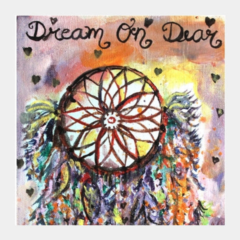 Dear Dreamcatcher Square Art Prints | Artist : the scribble stories