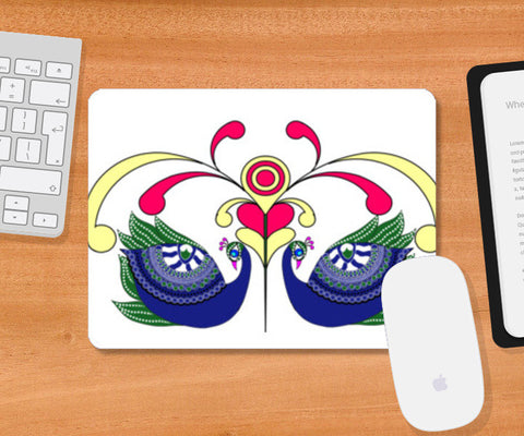 Peacocks Mousepad | Artist : Pratyasha Nithin