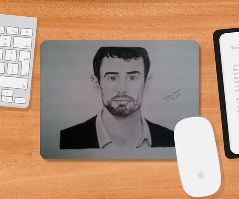 Mousepad, Theo James Mousepad | Artist : Pratigya Berwal, - PosterGully