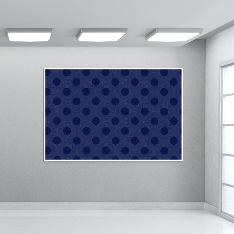 Blue Pattern Giant Poster | Artist : Pallavi Rawal