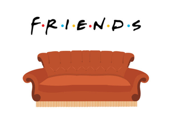 Central Perk Friends Couch Wall Art Artist Safira Mumtaz