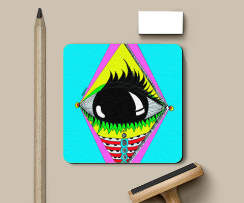 the big eye Coasters | Artist : Anjuri Jain