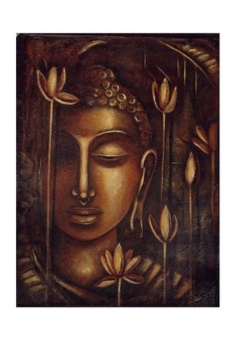golden Buddha Wall Art | Artist : Raji Chacko classic paintings