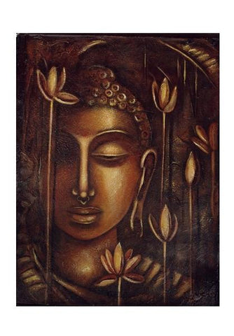 PosterGully Specials, golden Buddha Wall Art | Artist : Raji Chacko classic paintings | PosterGully Specials, - PosterGully