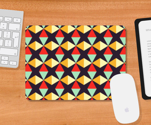 Geometric triangle subtle pattern Mousepad | Artist : Designerchennai