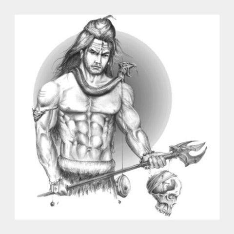 Square Art Prints, Mahadev Square Art Prints | Artist : RishabhDev Sharma, - PosterGully