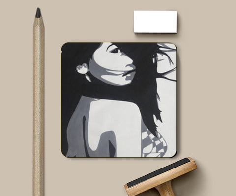Girl Abstract Coasters | Artist : Pranita Bajoria