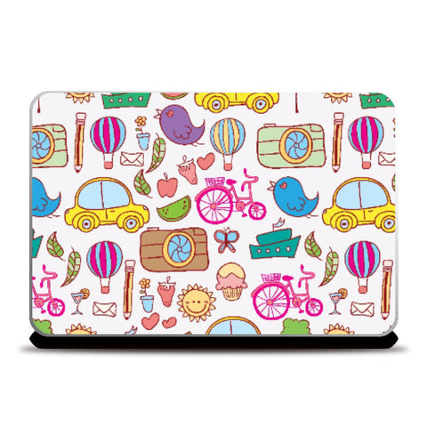 Laptop Skins, Colorful Doodles | Artist: Pratyusha Subramaniam, - PosterGully