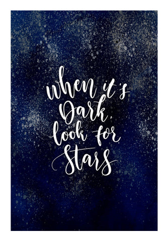 When It's Dark, Look For Stars Wall Art | Artist : Inderpreet Singh