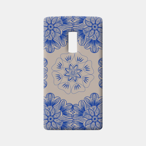 Gold Flower One Plus Two Cases | Artist : Tiny Dots