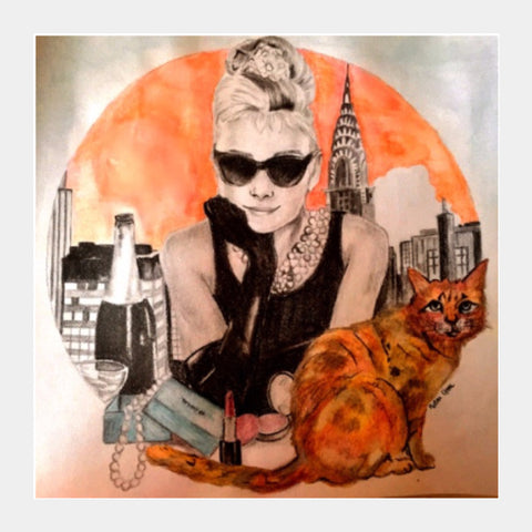 Square Art Prints, Breakfast at Tiffany's Square Art | Artist: Pritika Uppal, - PosterGully