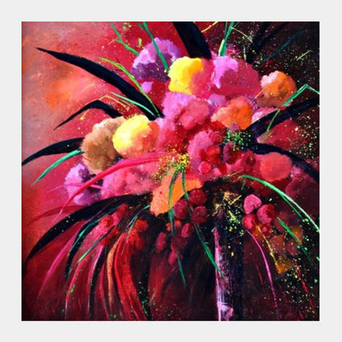 Pink Still Life Square Art Prints PosterGully Specials