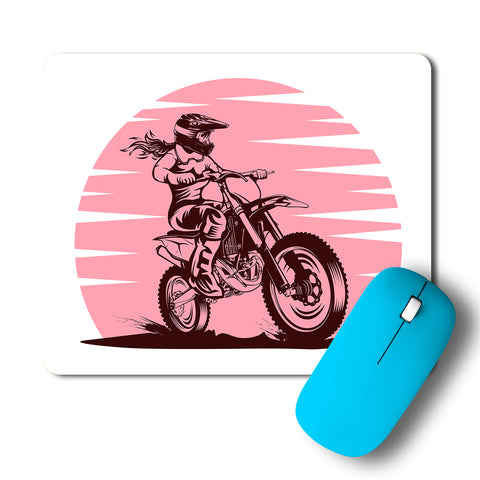Lady Rider Bullet Artwork Mousepad