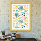 Multicolored art design vector pattern Premium Italian Wooden Frames | Artist : Designerchennai