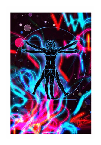 Wall Art, Vitruvian Man Psychedelic Wall Art | Loco Lobo, - PosterGully