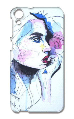 Watercolour Portrait Painting HTC Desire 820 Cases | Artist : Rahul Tanwar