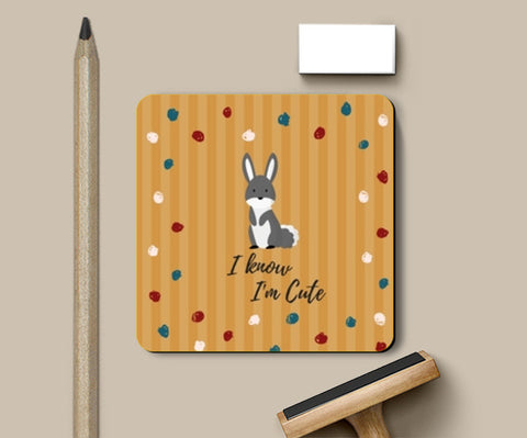 PosterGully Coasters, I know I'm Cute Coasters | Artist : Pallavi Rawal, - PosterGully