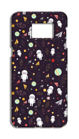 Astronaut Pattern Samsung Galaxy S6 Edge Plus Cases | Artist : Designerchennai