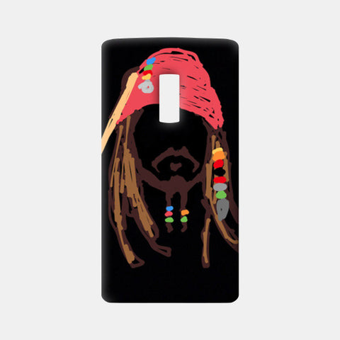 Jack Sparrow Pirates Of The Caribbean Minimal Doodle One Plus Two Cases | Artist : Praband
