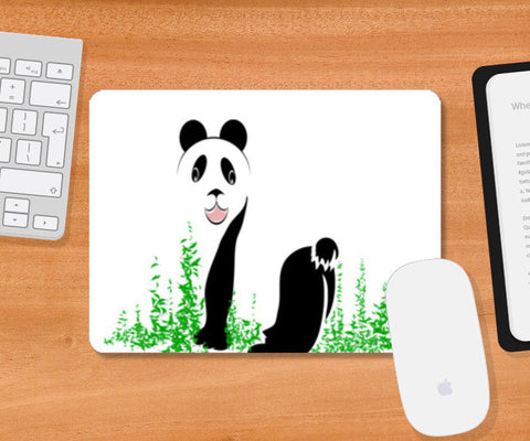 THE PANDA is a symbol of gentleness and strength. it is an auspicious symbol of peace, harmony Mousepad | Artist : amit kumar