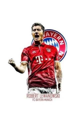 Robert Lewandowski - Bayern Munich Wall Art | Artist : Syamantak Dubey
