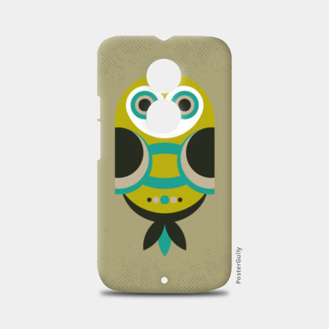 Unique geometric owl on dark Moto X2 Cases | Artist : Designerchennai