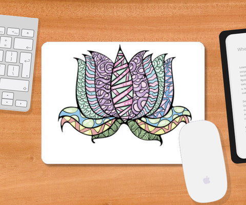 lotus illustration Mousepad | Artist : Simran Sain