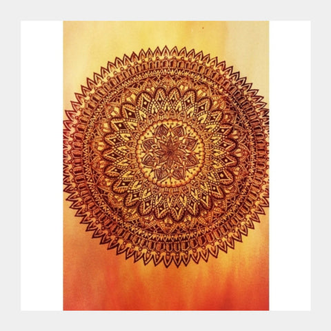 Fiery Mandala Square Art Prints PosterGully Specials