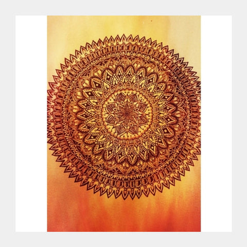 Fiery Mandala Square Art Prints | Artist : Susrita Samantaray