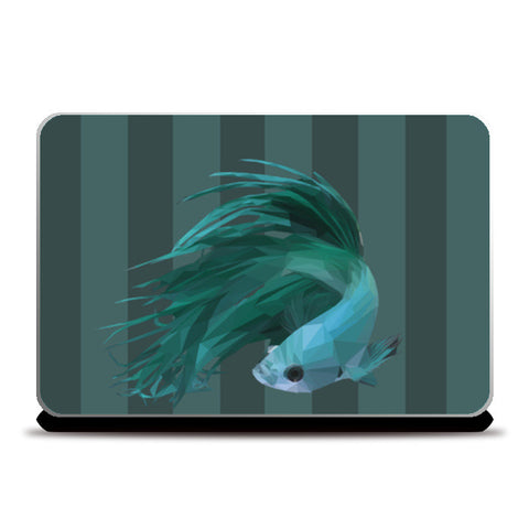 Blue Fish Laptop Skins | Artist : Shashanka Beshra