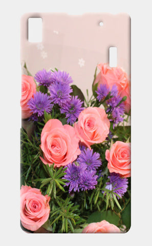 Lenovo K3 Note Cases, Pink Roses Spring Bouquet Floral Lenovo K3 Note Cases | Artist : Seema Hooda, - PosterGully